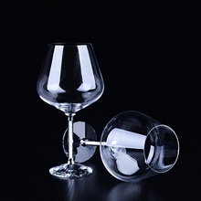 Creative large capacity diamond crystal wine glass Europe type goblet with diamond The wedding fashion gift wine glass