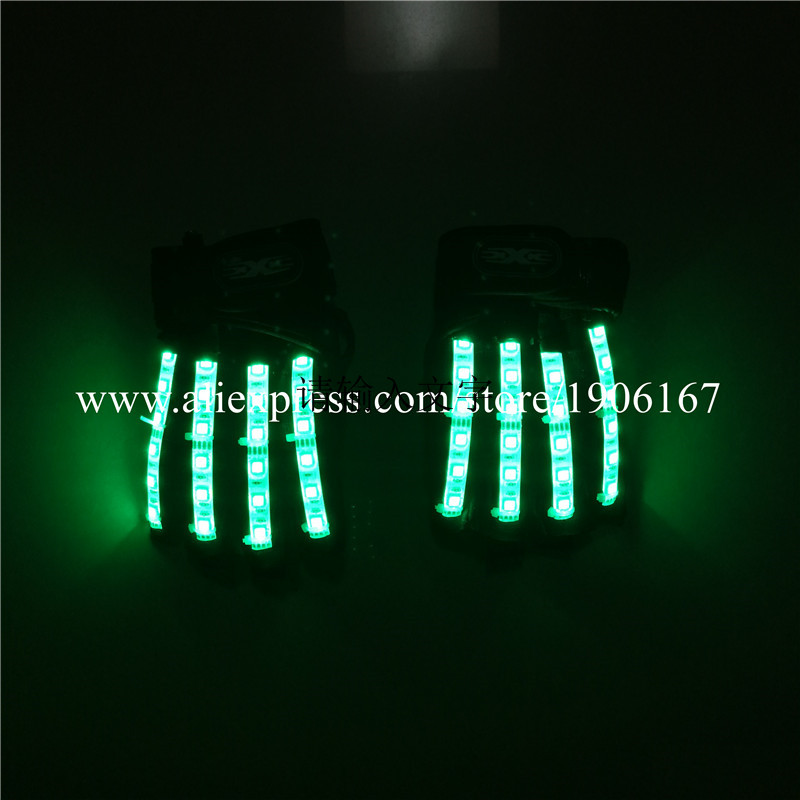 Led Gloves Stage Show Props LED Light up Gloves Glow Party Supplies12