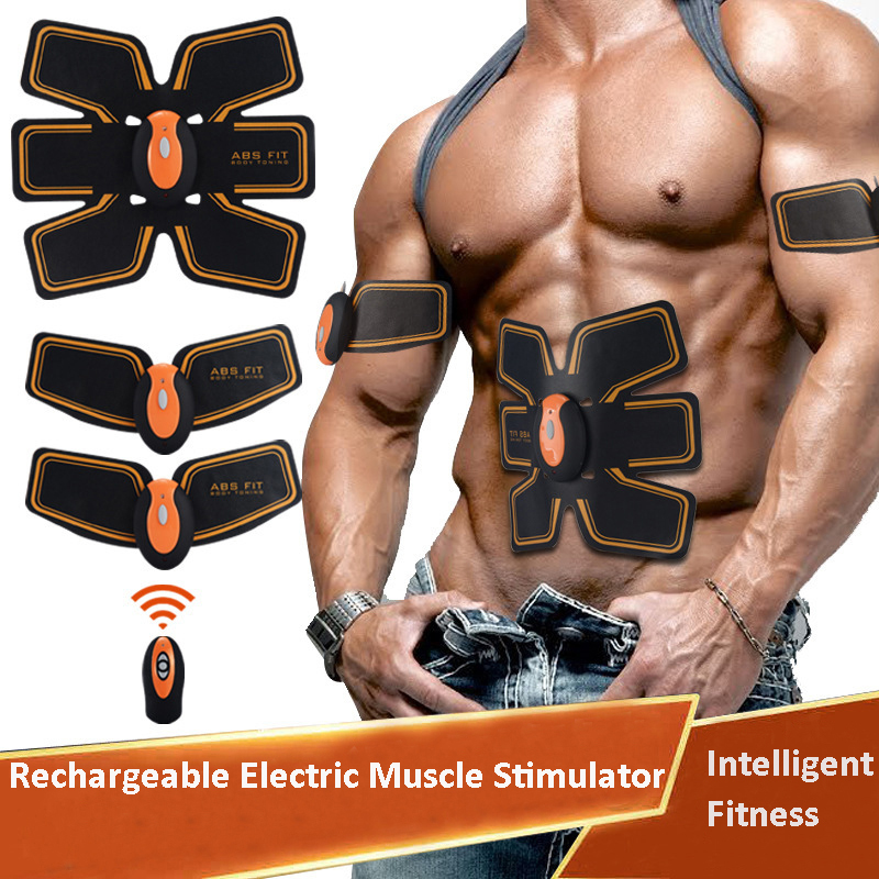 NEW Rechargeable Electric Muscle Stimulator EMS Body Slimming Abdominal Muscles Training Machine Body Toning Arm Waist Massager<br>