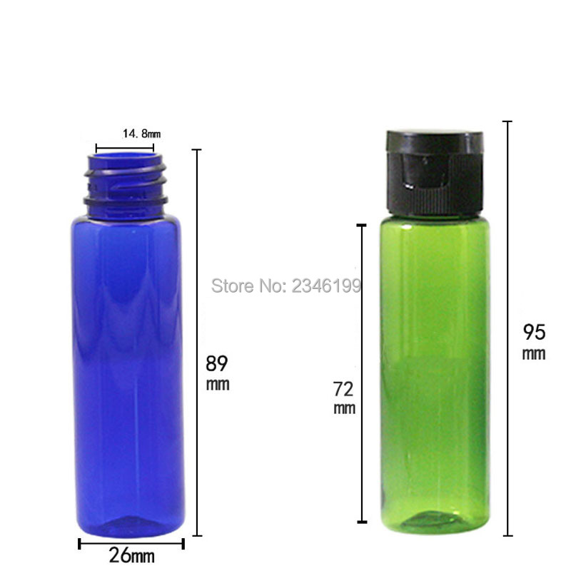 Plastic Bottle 30ml Flip Cover Bottle Empty Cosmetic Packaging Empty Plastic Transparent Cap Packing Cosmetic Container (3)