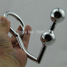 2 Balls Anal Hook Male Chastity Cock Lock + Anal Plugs /Cock Lock Male metal Anal hook ring Alternative sex toys Drop shipping