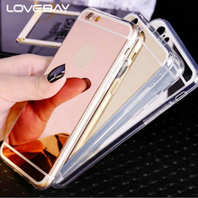 Buy Lovebay Phone Case iPhone 7 6 6s Plus 5 5s Luxury Mirror Fashion Gold Plating Bling Luxury Mirror Soft Clear TPU Cover Cases for $1.06 in AliExpress store
