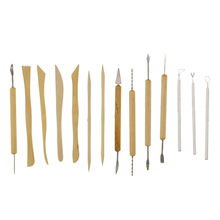 Hot item! 14 Pcs Pottery Sculpture DIY Clay Modeling Shaping Tools Set with Black Case(China)