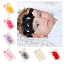 1PC Kids Pearl Flower Children Hats Headbands Infant Toddler Girl Headband Hairband Hair Clips Band W085 Accessories