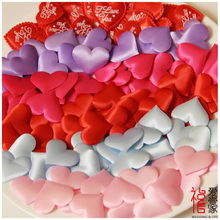 New 100pcs/bag Wedding Decorations Fashion Atificial Flowers Polyester Wedding Rose Love Harts Petals Patal Home Decor Party(China)