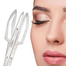 1PC Golden Ratio Measure Microblading Stainless Steel Ruler ATOMUS Permanent Makeup Eyebrow Tattoo Design Calipers Stencil(China)