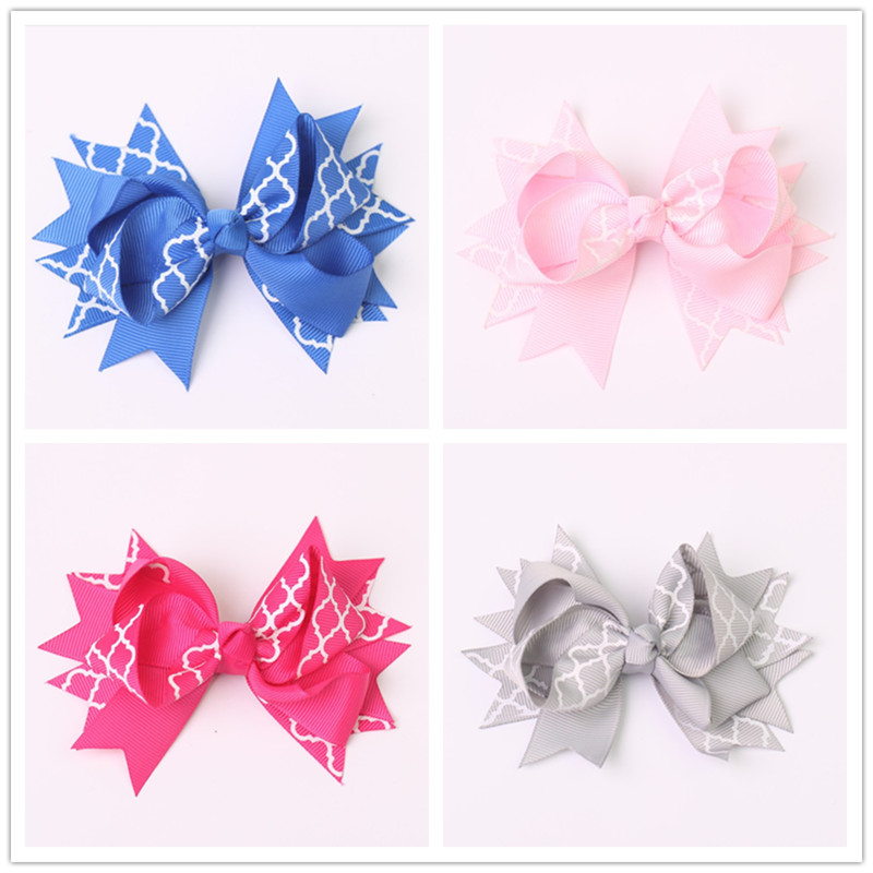 2pcs/lot 4.5 inch girls children hair bow baby hair clip ribbon bow clips for kids girls hairgrips hairpins headwear accessories<br><br>Aliexpress