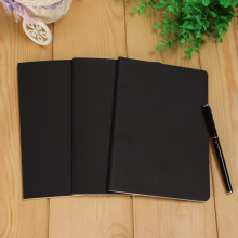 A5 B5 Black Notebook Stationery Blank Inner Paper Planner Sketchbook Vintage Diary Book Graffiti School Office Supply Papelaria