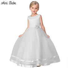 Aini Babe Flower Girl Wedding Bridal Dress Birthday Ceremonies Fancy Kids Teenager Party Prom Gown Children Clothing Girl 10Yrs