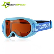 Rockbros Kids Ski Goggles Brand PC Lens UV400 Anti-fog Ski Mask Boys Girls Ski Glasses Snow Snowboard Goggles