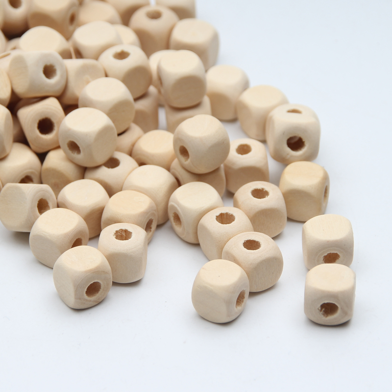 DIY 200X Wooden Spacer Beads Kids Toy crafts Makeing Necklace Wood Beads 10mm