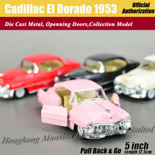 1:36 Scale Diecast Classic Car Model For Cadillac El Dorado 1953 Collection Model Pull Back Toys Car - Pink/Red/White/Black