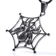 2017 Fashion Jewelry spider Pattern Pendent necklaces fow men Women couples Lovers anime statement steampunk kolye(China)