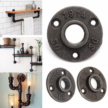 "New 1pc 1/2"",3/4"" Thread BSP Malleable Iron Pipe Fittings Wall Mount Floor Vintage Hardware Tools Flange Piece"