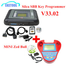 DHL Delivery Auto Key Programmer PRO OBD2 Transponder Silca SBB V33.02&Mini Zed Bull SW V508 Works Multi-Car Key Maker