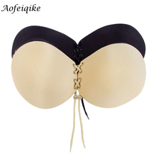 Women Silicone Bra Invisible Push Up Stick On Self Adhesive Front Lacing Bras Strapless Lingerie women summer backless bra #Y
