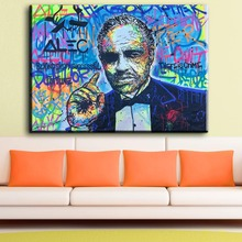 ZZ1129 Large size Printing Oil Painting Wall painting alec monopoly lab graffiti art Wall Art Picture For Living Room painting(China)