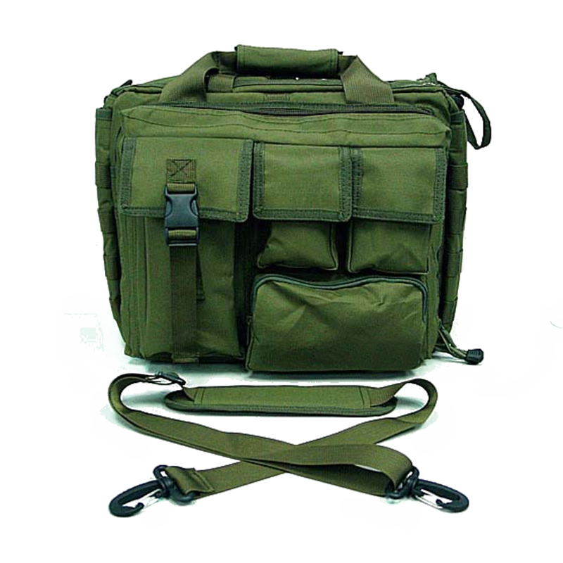 "OD Green 15"" Tactical Military Laptop Bag Notebook Shoulder Bags Carrying Case Briefcase Laptop Messenger(China)"