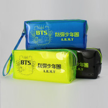 Youpop K-POP BTS Bangtan Boys Logo 2016 KPOP Jewelry Admission Package Pencil Bags Cosmetic Case KPOP Student Stationery Kits