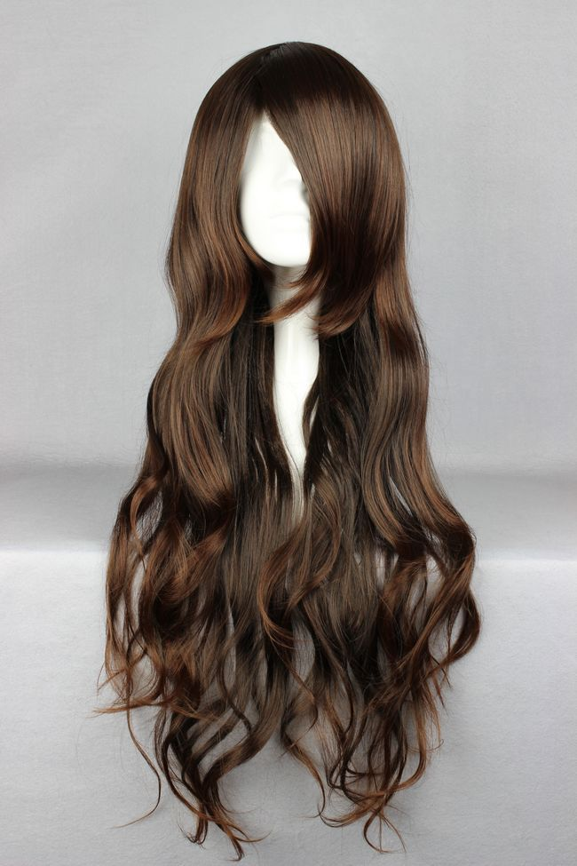 MCOSER 65cm Long NO.6-Inukashi  Dark Brown Cosplay Costume Wig<br><br>Aliexpress