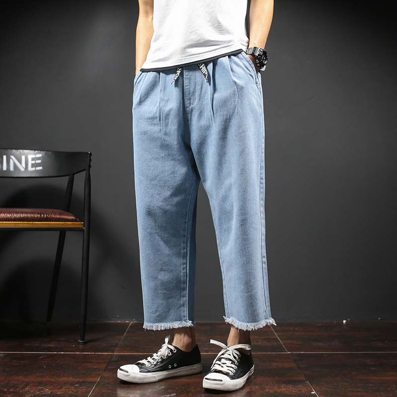 Men Wide Leg Denim Pant Male Fashion Loose Harem Jeans Solid Color Casual Jean Trousers Size 29-42Одежда и ак�е��уары<br><br><br>Aliexpress