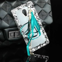 Ribbon Tassel Case for Mei Zu M5s U10 U20 MX4 MX5 MX6 Pro 5 6 M1 M2 M3 M5 M3s mini Note Max Cover PC Hard Bling Rhinestone Cover