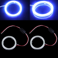 2 Pcs x 70mm COB Angel Eyes Halo Car LED Light Ring Headlight DRL DC 12V-D2TB