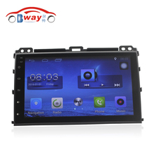 "Free Shipping 9"" Quad core Android 6.0.1 Car DVD Video Player For Toyota Prado 120 2006-2009 car GPS Navigation Radio wifi,DVR"