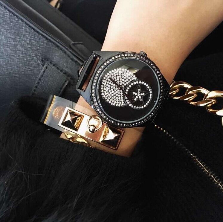 Wristwatches Quartz Watches  High Grade Women s Watch Genuine Leather Belt High-Grade Diamond  Star Fashion<br><br>Aliexpress