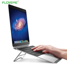 FLOVEME Laptop Stand Portable Tablet Holder Aluminium Laptop Stands For MacBook Air Mac Book Pro 120 Degree Tablet Mount Soporte(China)