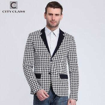 City Class 2016 Nouveau Printemps Hommes Blazer Mode Slim Fit Bussiness Costumes Occasionnels Eupo Taille Vestes Veste Costume Homme 6009