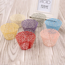 50PCS/Lot  Little Vine Lace Laser Cut Cupcake Wrapper Liner Baking Cup For Home Garden Wedding / Birthday Party Decoration