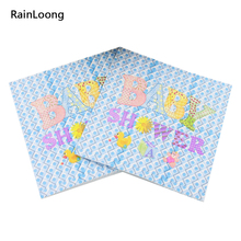 [RainLoong] Baby Shower Paper Napkin Printed Festive & Para Festas Tissue Guardanapo Servilleta 33cm*33cm 20pcs/pack/lot(China)