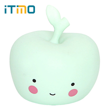 iTimo LED Night Light Bedroom Decoration Room Decors Kid Baby Bedside Light Novelty Atmosphere Lamp Apple Shape Lamps Nightlight