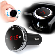 Overmal Wireless Bluetooth LCD FM Transmitter Modulator Car Kit MP3 Player SD w/Remote(China)