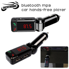 Car Kit Bluetooth FM Transmitter Car MP3 Audio Player Wireless FM Modulator LCD Display Dual USB Charger for iPhone Samsung