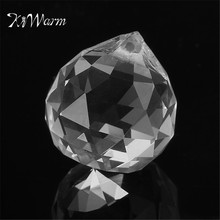 KiWarm DIY 20MM Transparent Crystal lighting ball Decor Crystal Pendant Accessories Home Party Ornamentas