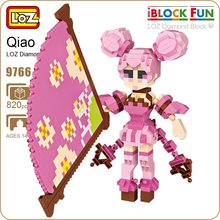 LOZ Building Blocks Figures Dynasty Warriors Shin Sangokumusou Xiao Qiao Glory king Micro Brick Game Building Assembly Toy 9766