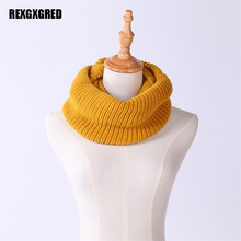 Hot Sale  New Fashion Style Unisex Winter knitted Scarves Wool Collar Neck Warmer  Crochet Ring  Scarf For women