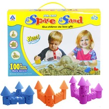 2016 Hot Sale Dynamic Colored Sand Educational Amazing No-mess Indoor Magic Play Sand Set Mould Children Toys Mars Space Sand