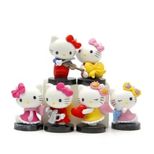 6pcs/lot Anime Cartoon Kawaii Mini Hello Kitty Angel Blink Figures Toys PVC Action Figure Model Toys Children Gifts Home Decor