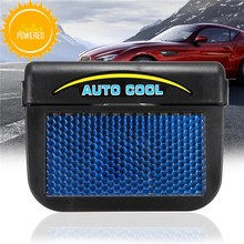 Black Solar Sun Power Car Window Auto Air Vent Cool Fan Cooler Ventilation System Radiator(China)