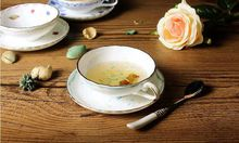150 ml vintage Ceramic Flower Afternoon tea cup and saucer Bone China Drinkware ceramic tea set or cafe