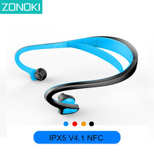 ZONOKI BW1 Sports Bluetooth Headset Binaural Stereo In Ear Bluetooth Headset Auriculares Blue Tooth Earphones Wireless 4.1 NFC