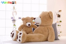 YunNasi PP Cotton 130cm Big Bear Stuffed Animal Dolls Plush Toys Kids Teddy Bear American Birthday Valentine's Gifts For Girls(China)
