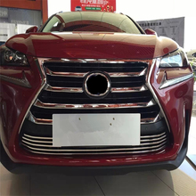 car auto sedan cover Styling for Lexus NX 2015 2016 ABS chrome Front head Grille racing grill sticker accessories moulding trim
