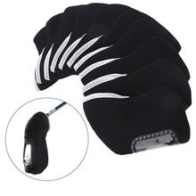 10pcs Golf Club Head Covers Cases Protective Outdoor Black Neoprene Accs Durable(China)