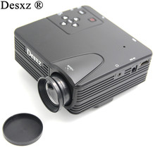 Desxz H80 Mini Projector HD 1080P LCD Digital Video Game Projectors Multimedia Player Inputs AV VGA USB SD HDMI for office home