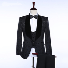 Buy HB003 Custom Made Formal Mens Suits Slim Fit Black Men's Wedding Suits Groom Tuxedos Men 3 Pieces Suit Shawl Neck Fashion for $88.00 in AliExpress store