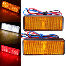 iTimo 1 Pair Universal Motor Tail Brake Lights Indicator Lamps For Harley Motorcycle Lighting Reflector White/Red/Amber